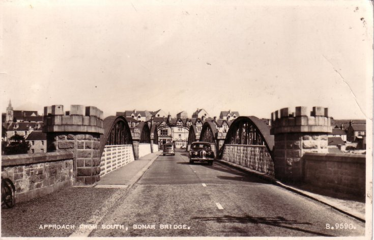 Bonar Bridge ~ approach from south