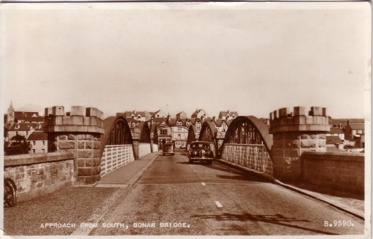 Bonar Bridge ~ approach from south
