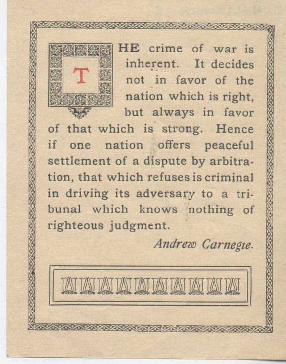 The Crime of War by Andrew Carnegie