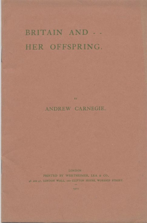 Britain and Her Offspring by Andrew Carnegie