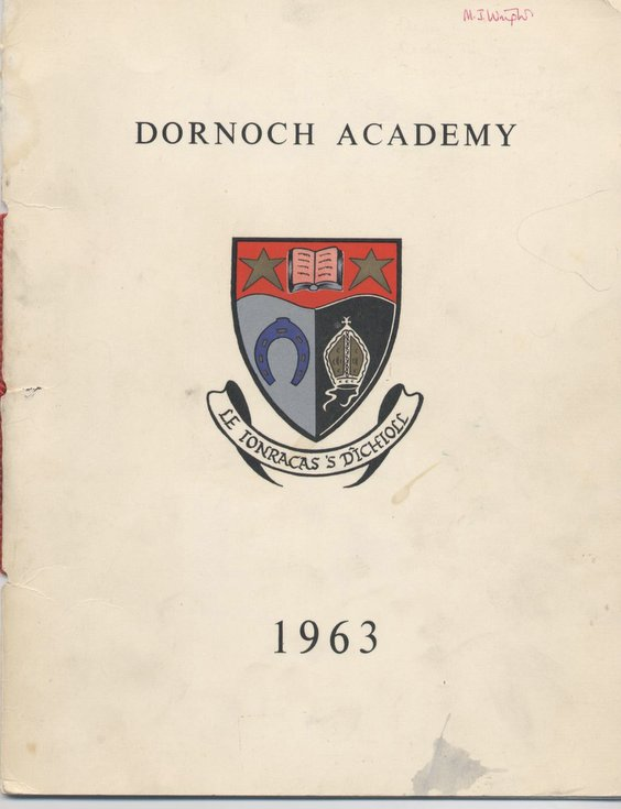 Souvenir marking the opening of Dornoch Academy 1963