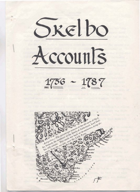 Skelbo Accounts 1756 - 1787