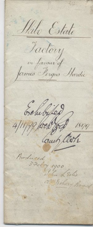 Contract of appointment James Hardie Factor of Skibo 1899