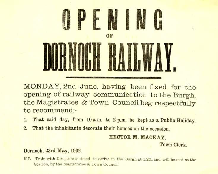Dornoch Railway poster
