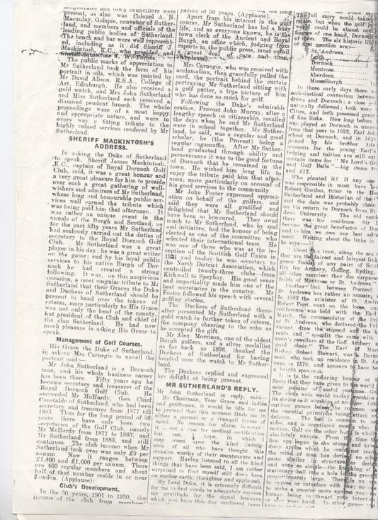 Northern Times Extract 1933