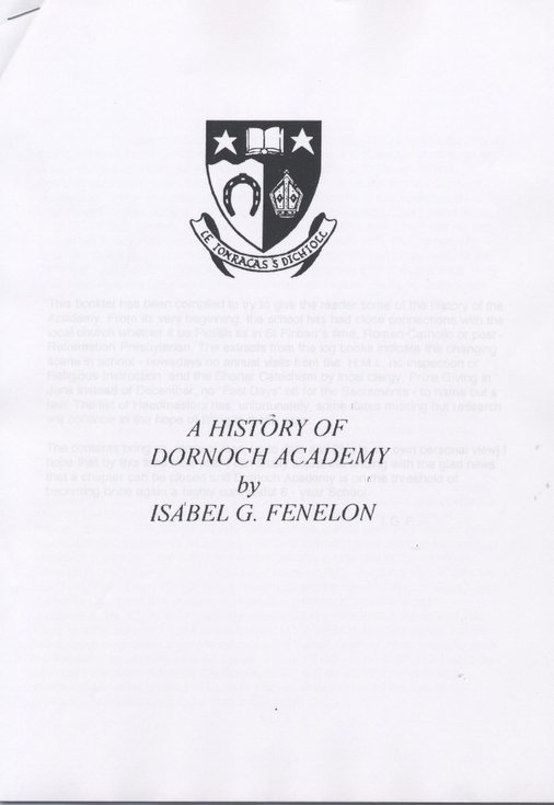 The History of Dornoch Academy 1995
