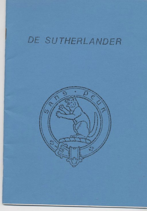 'de Sutherlander' - Dutch article about Skelbo Castle