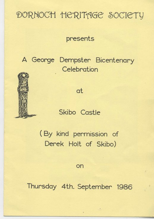 Skibo Castle - bicentenary of George Dempster