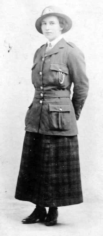 Annie Mackay in uniform of City of Glasgow tram company