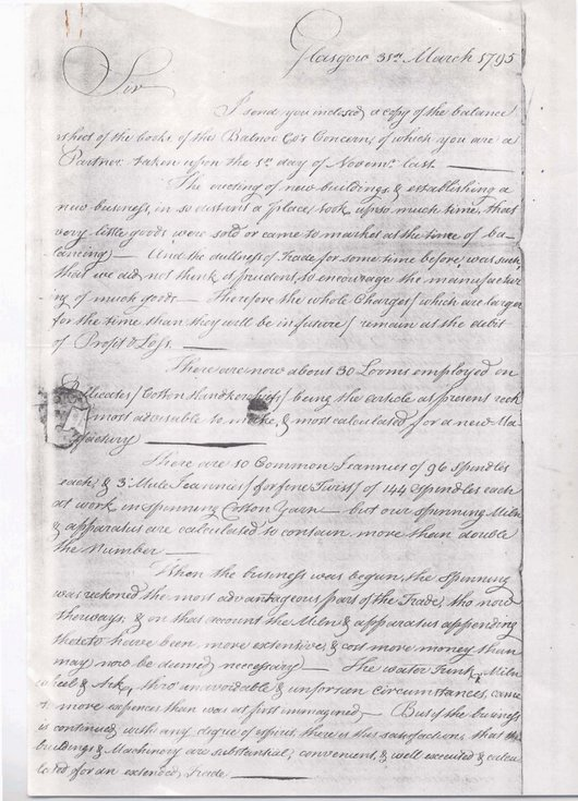 Letter from George Dempster 1795