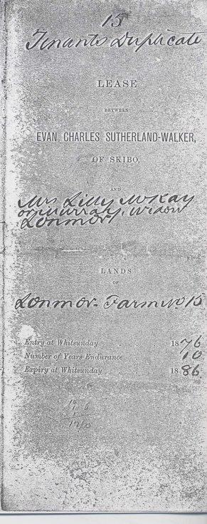 Lease Skibo tenant 1875