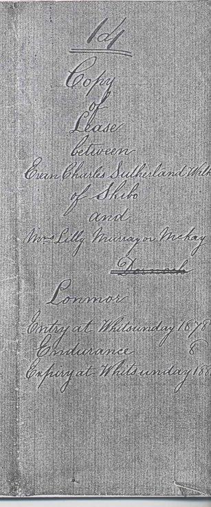 Lease Skibo tenant 1878