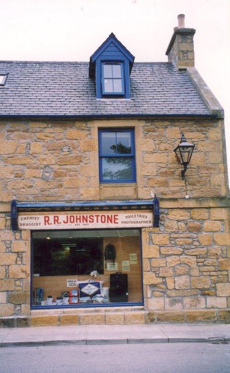 Pre 2002 R R Johnstone Chemist Shop sign, Dornoch