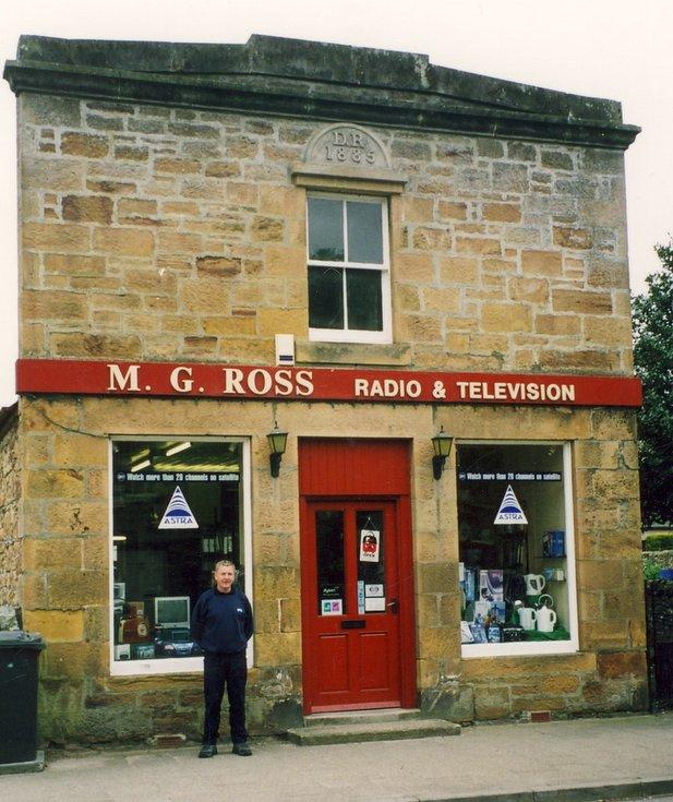 M G Ross Radio & Television,  Castle Street, Dornoch