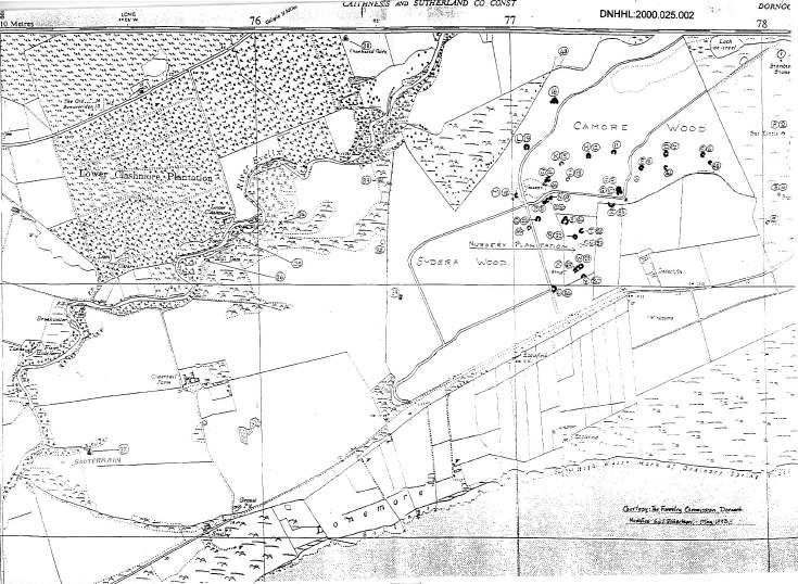 Cyderhall/Sydera sketch map