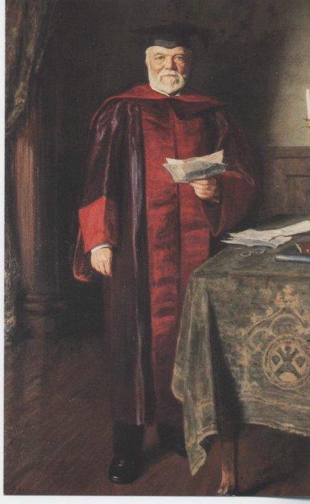 Postcard portrait of Andrew Carnegie