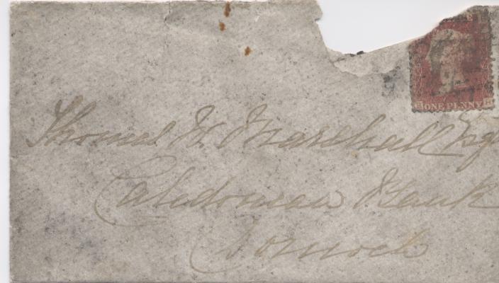 Envelope addressed to Dornoch with Queen Victoria stamp 1877