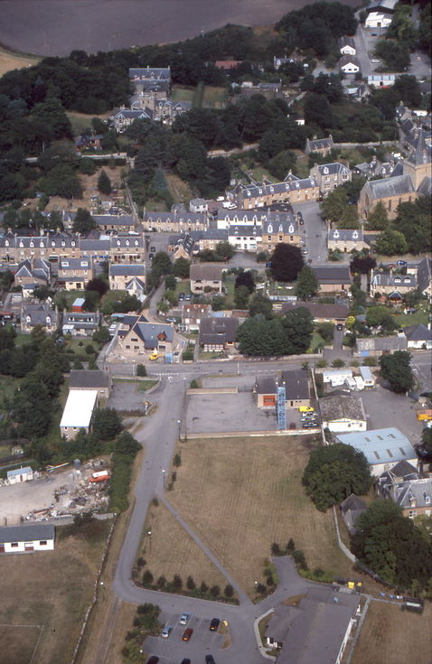 Aerial photograph of Dornoch area around Fire Station