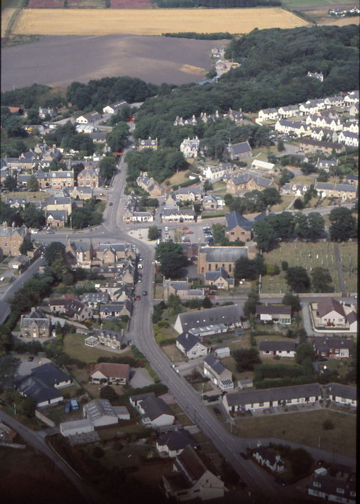 Aerial photograph of Church Street - Station Road Dornoch