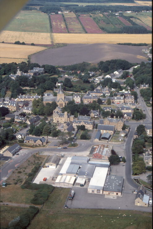 Aerial photograph of Dornoch Cathedral