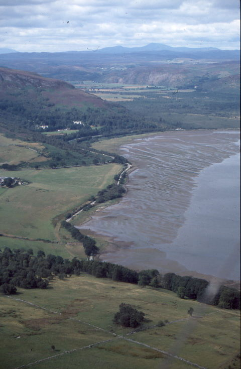 Aerial photograph of NW end of Loch Fleet
