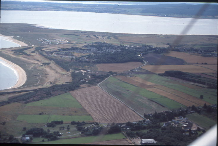 Aerial photograph of Dornoch from the NE