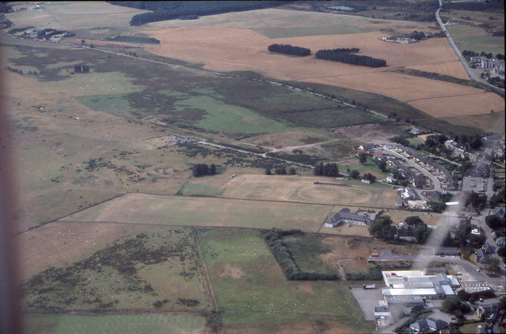 Aerial photograph of western side of Dornoch