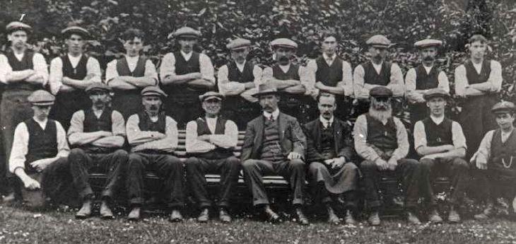 Skibo Home Farm staff 1914