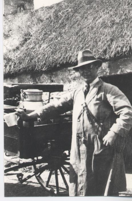 Milkman with milk cart