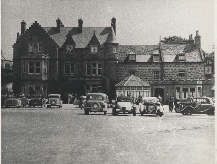 Car Rally at Sutherland Arms Hotel Dornoch 1930s
