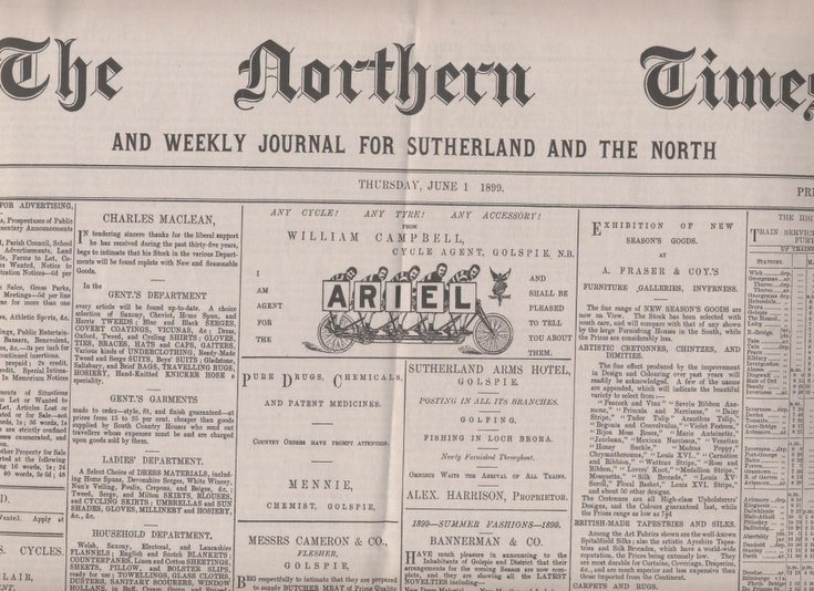 Reprint of first edition of Northern Times 1 June 1899
