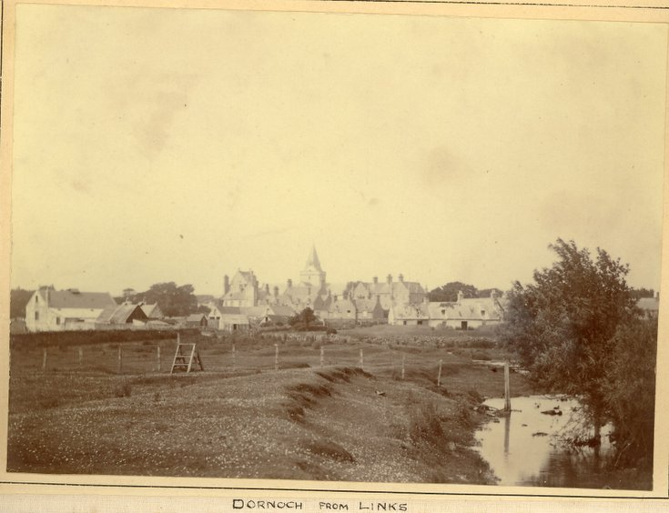 Dornoch from the links c 1896