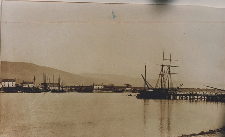 Sailing vessels at Littleferry 1890's