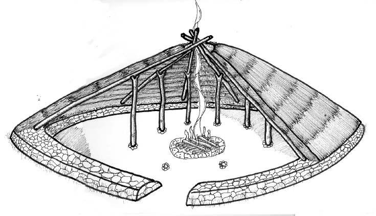 Hut circle reconstructions