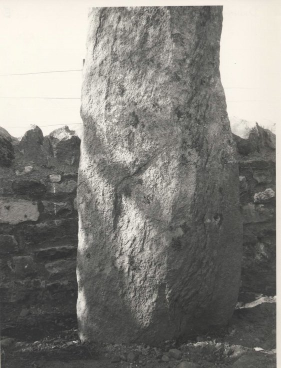 Clach a'Charra in its resited location 1968