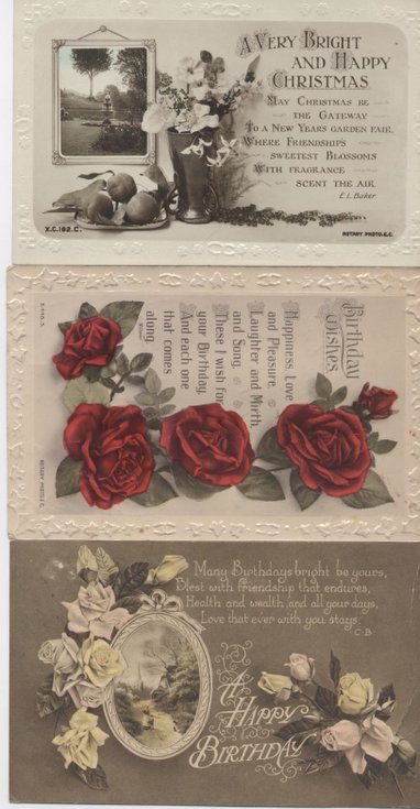 Greetings postcards 1920's