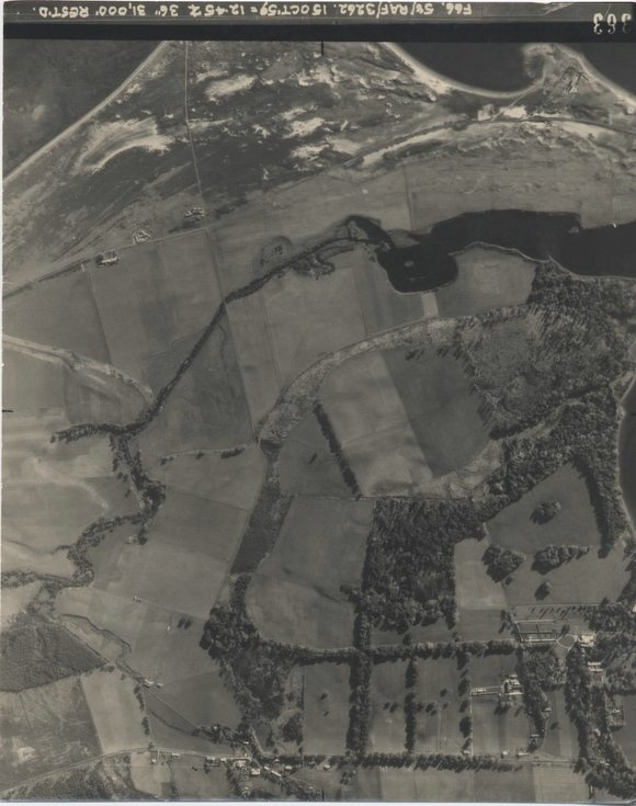 Aerial photograph of the Evelix Valley 1959