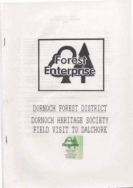Dornoch Heritage Society field visit to Dalchork Broch