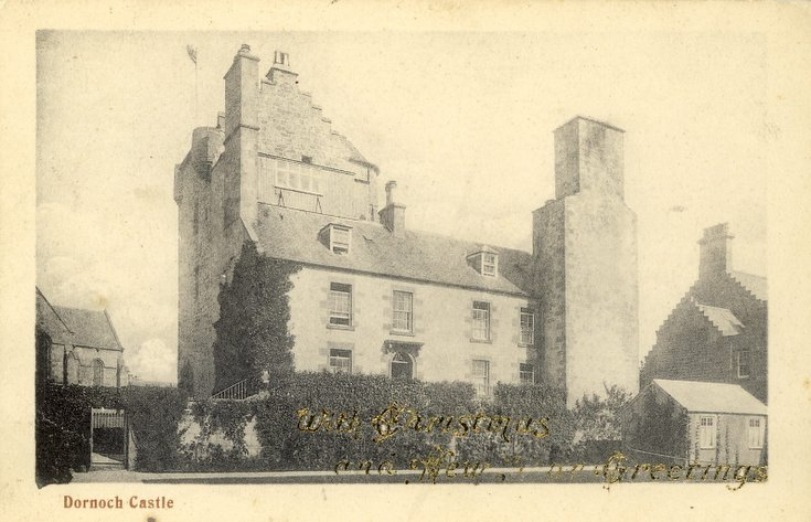 Postcard of the Castle with Christmas Greetings