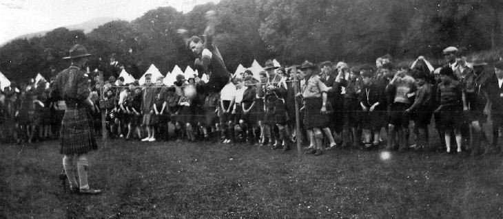 Scout camp activities 1928