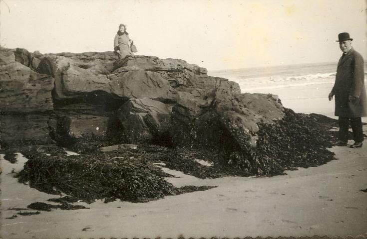 Mrs. Ruby Hardie on Dornoch Beach