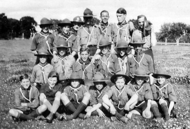 Scout troop photograph