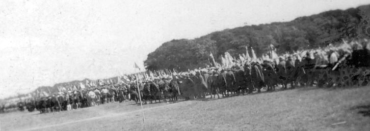 Large body of Scouts in various uniforms
