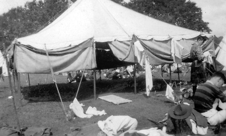 Airing the tents at Scout Camp