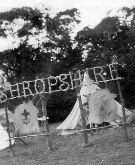 Shropshire sign at Scout World Jamboree