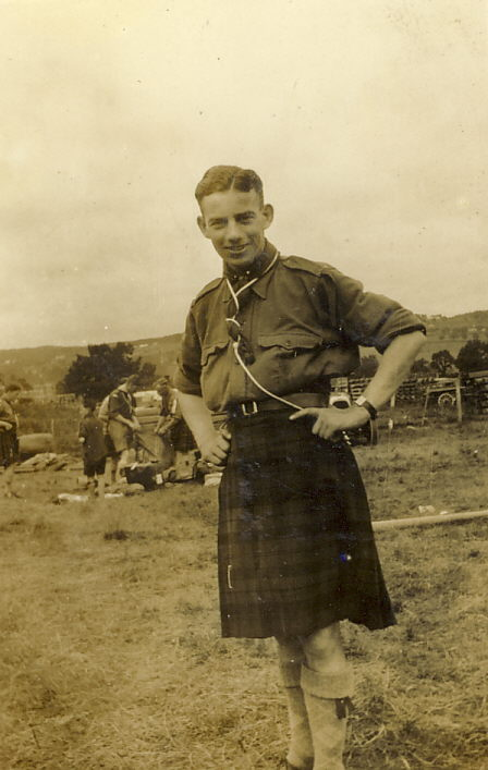 A Scout Leader at summer camp