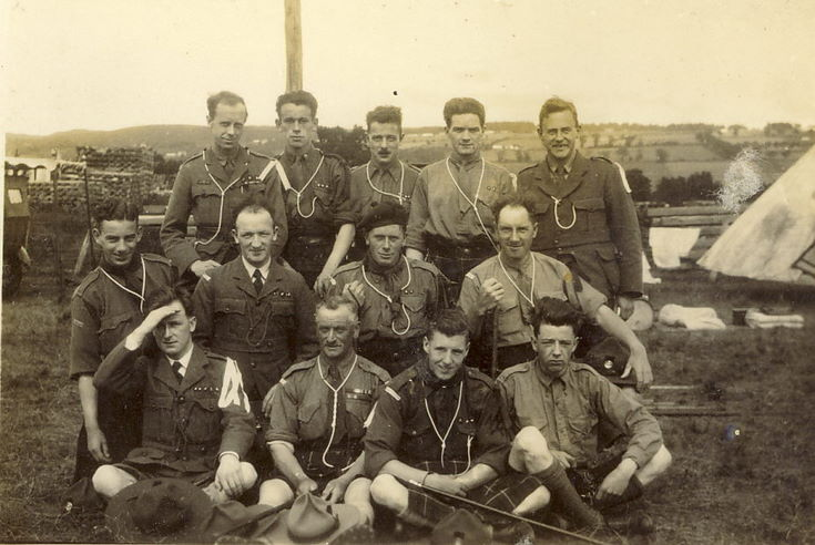 Group photograph of scout leaders