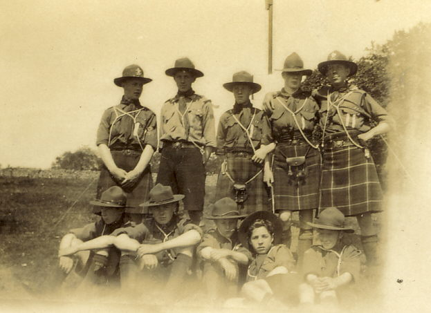 Group photograph of scouts