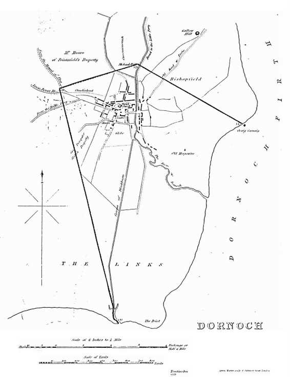 Map to accompany report on Dornoch 1821 - 1831