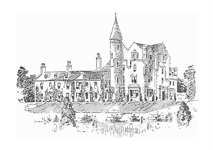 Photocopy of sketch of Skibo Castle before remodelling